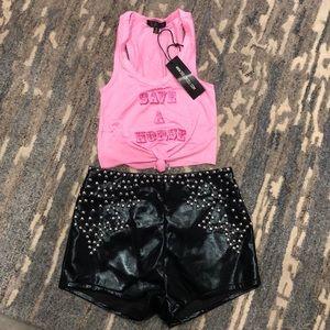Dolls Kill Shorts - DollsKill Club Exx Stagecoach Outfit.